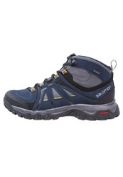 Salomon Evasion Gtx Walking Boots Deep Blue Slateblue Maize Dark Blue