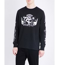 Criminal Damage Pyramid Cotton Jersey Sweatshirt Black
