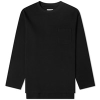 Engineered Garments Waffle Crew Sweat Black