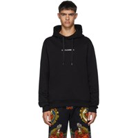 Dolce And Gabbana Black Embroidered Logo Hoodie