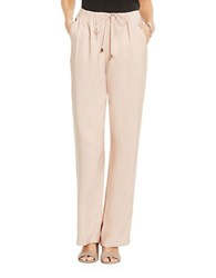 Vince Camuto Solid Wide Leg Pants Coral Sand