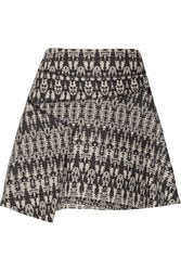 10 Crosby By Derek Lam Cotton Blend Tweed Skirt Blue