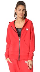 Baja East Bye Felicia Zip Up Hoodie Red