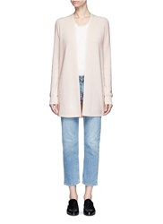 Helmut Lang Cotton Cashmere Open Front Cardigan Neutral