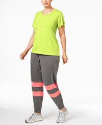 Material Girl Active Plus Size Strappy Back Top Only At Macy's Limearita