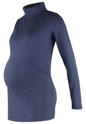 Mama Licious Mlvera Long Sleeved Top Black Iris Dark Blue