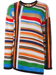 N 21 No21 Open Back Striped Pullover