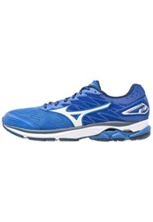 Mizuno Wave Rider 20 Neutral Running Shoes Nautical Blue White Dress Blues