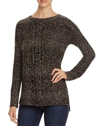 Sanctuary Sierra Marled Cable Knit Sweater Black Grey