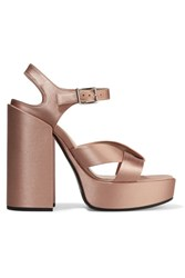 Jil Sander Satin Sandals Antique Rose