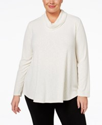 Styleandco. Style Co. Plus Cowl Neck Knit Top Only At Macy's Warm Ivory