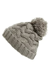 Junior Women's Capelli Of New York Pompom Cable Knit Hat