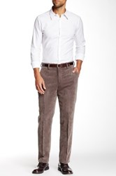 Louis Raphael Cord Tailored Modern Fit Pant Brown