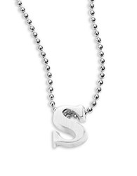 Alex Woo Icon Sterling Silver Initial Necklace