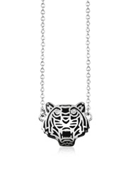 Kenzo Sterling Silver Solid Mini Tiger Necklace