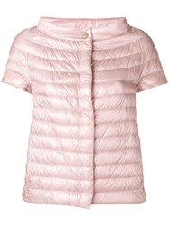 Herno Sleeveless Feather Down Jacket Pink