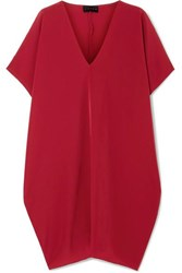 Hatch The Slouch Crepe De Chine Mini Dress Claret