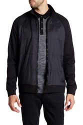 Kenneth Cole Full Zip Quilted Front Jacket Black
