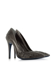 Loriblu Anthracite Leather Pump Black