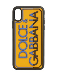 Dolce And Gabbana Logo Embossed Rubber Iphone X Xs Cover Sole