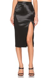 Atm Anthony Thomas Melillo Sparkle Zipper Skirt Black