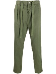 Entre Amis Straight Leg Trousers Green