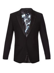 Alexander Mcqueen Single Breasted Wool And Mohair Blend Blazer
