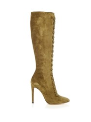 Gianvito Rossi Imperia Knee High Boots Khaki