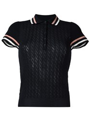 Red Valentino Shortsleeved Polo Shirt Black