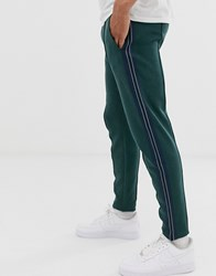 Tom Tailor Tapered Fit Jogger With Side Stripe In Green