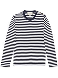 Gucci Striped Cotton Crew Neck Sweater Men Cotton S White