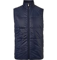 Dunhill Links Muirfield Quilted Shell Golf Gilet Navy