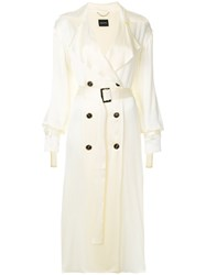 Magda Butrym Punta Cana Trench Coat Nude And Neutrals