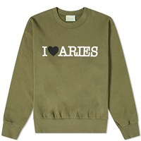 Aries I Heart Sweat Green