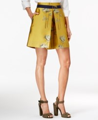 Rachel Roy Pleated A Line Skirt Only At Macy's Yellow Amber