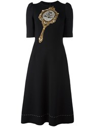 Dolce And Gabbana Mirror Patch Dress Black