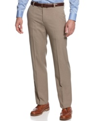 Kenneth Cole Reaction Straight Fit Vertical Texture Pants Oatmeal