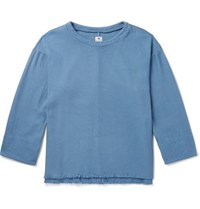 Sasquatchfabrix. Sashiko Stitched Cotton Sweatshirt Blue