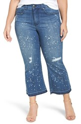 Melissa Mccarthy Seven7 Plus Size Women's Stretch Destroyed Crop Jeans