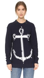 N 21 Anchor Sweater Navy