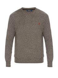 Polo Ralph Lauren Crew Neck Cotton Sweatshirt Grey
