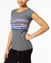 Ideology Graphic T Shirt Only At Macy's Charcoal Heather