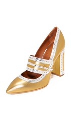 Malone Souliers Ada Pumps Gold Silver