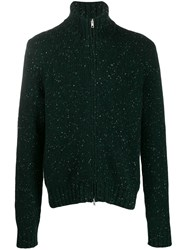 Maison Martin Margiela Zipped Speckled Cardigan Green