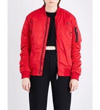 Boy London Shell Bomber Jacket Red