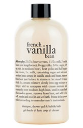 Philosophy 'French Vanilla Bean' Shampoo Shower Gel And Bubble Bath