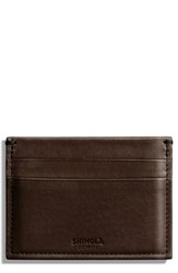 Shinola Leather Card Case Brown Deep Brown