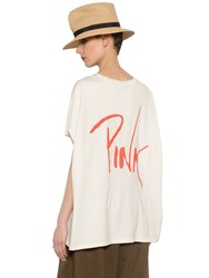 Y's Pink Printed Cotton Jersey T Shirt