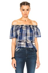 Ulla Johnson Amania To In Blue Checkered And Plaid Blue Checkered And Plaid