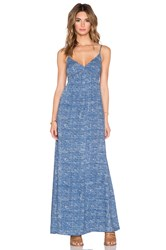 Candc California Printed Maxi Dress Blue